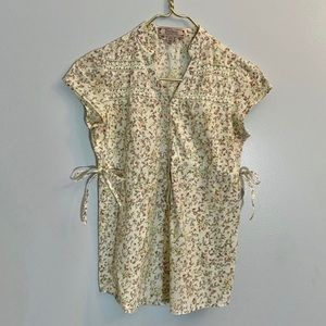 Decree Blouse Cream with Small Floral Print Small